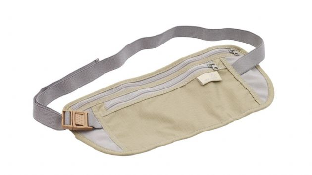 Easy Camp Money Belt with Two Pockets Travel Bum Bag, Holiday Passport Travel Bag - Grasshopper Leisure
